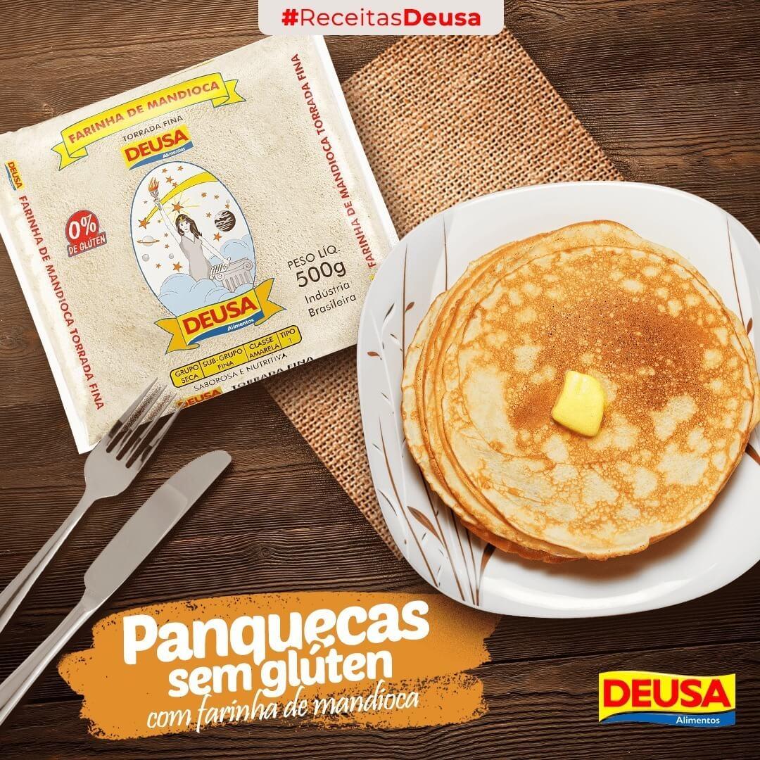 Receita De Panqueca Sem Glúten Com Farinha De Mandioca