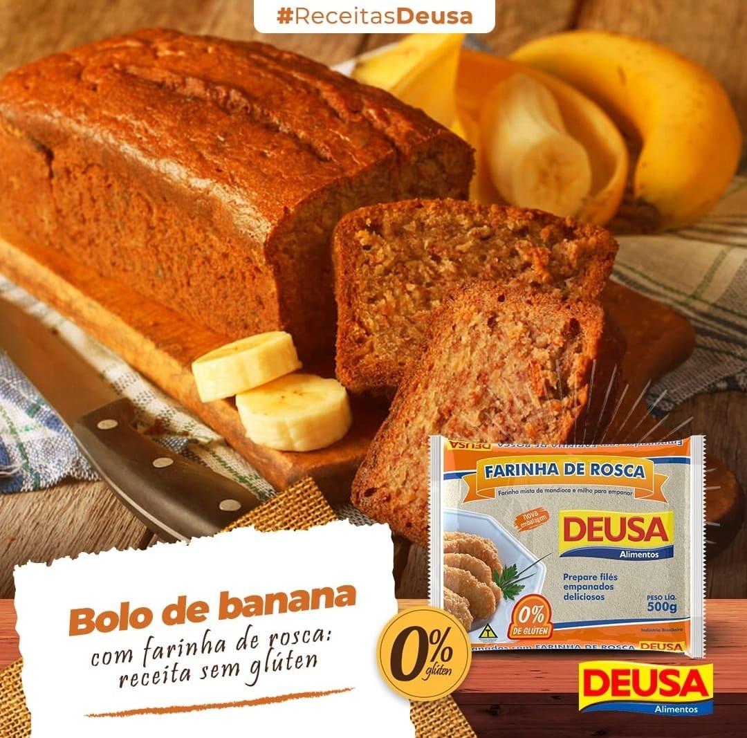 Receita De Bolo De Banana Com Farinha De Rosca Deusa