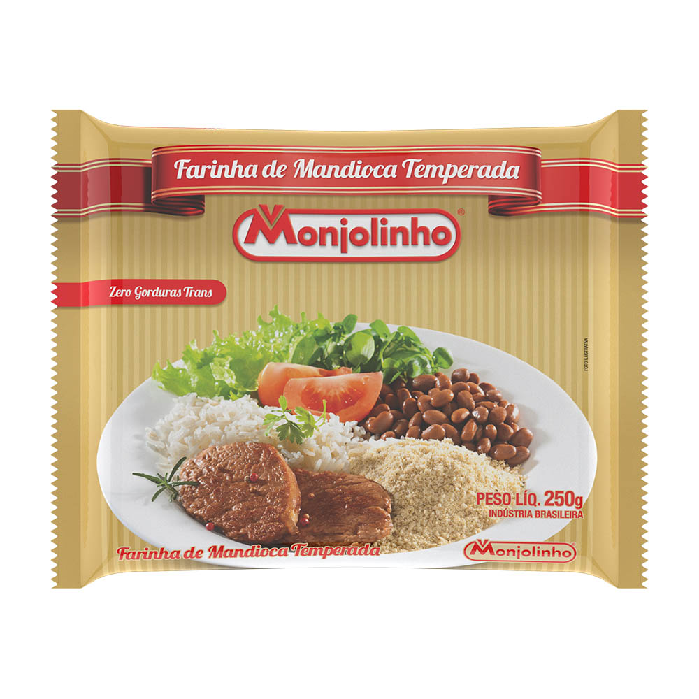 Farinha de Mandioca Temperada 250g